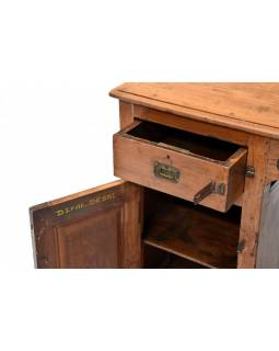 Písací stôl z teakového dreva, 129x56x79cm