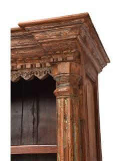 Knižnica vyrobená zo starého portálu, teakové a mangové drevo, 99x52x209cm