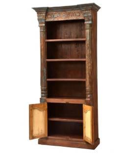 Knižnica vyrobená zo starého portálu, teakové a mangové drevo, 105x49x229cm