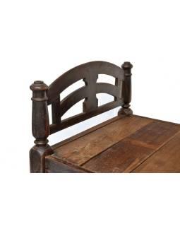 Stará posteľ z teakového dreva, 198x103x97cm