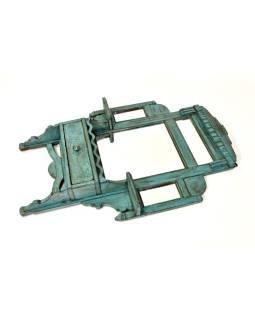 Zrkadlo s poličkou v ráme z teakového dreva, 53x11x81cm