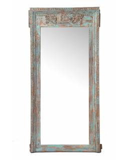 Zrkadlo v ráme z teakového dreva, 90x14x188cm