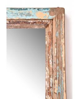 Zrkadlo v ráme z teakového dreva, 93x7x182cm