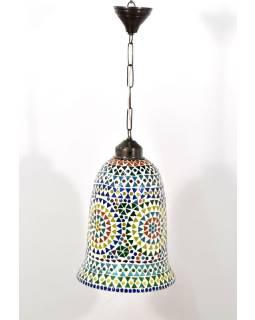 Otvorená sklenená mozaiková lampa, ručné práce, prům.20, výš.34cm