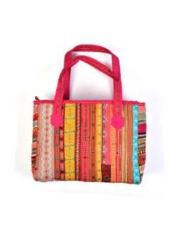 Unikátny taška z Radžastánu, ručne vyšívaná a zdobená, 51x32cm + 26cm ucha