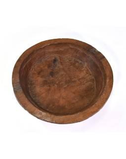 Drevená misa z mangového dreva vydlabaná z jedného kusu, 41x41x12cm
