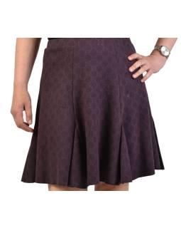 Krátka sukňa, fialová, čierna kolieska, elastický pás