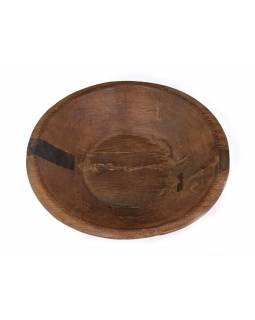Drevená misa z mangového dreva vydlabaná z jedného kusu, 55x55x14cm