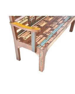 "Lavice z teakového dreva v ""Goa"" štýle, 153x51x100cm"