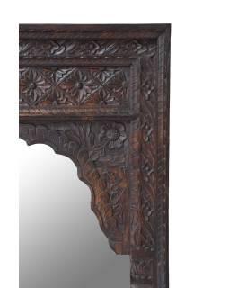 Zrkadlo v ráme z mangového dreva, antik, 75x5x122cm