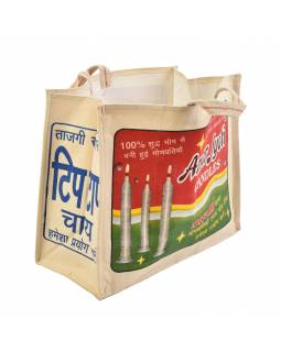 Originálne plátená taška z recyklovaného materiálu ,, 45x21x37cm