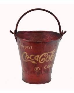 """Plechová nádoba na ľad """"Coca Cola"""", 27x27x30cm"""