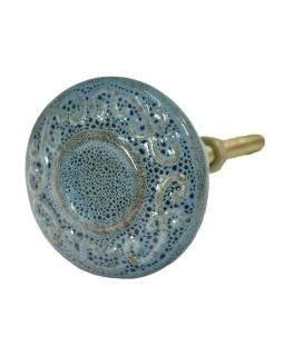Maľované porcelánové madlo na šuplík, dĺžka závitu 4,5cm
