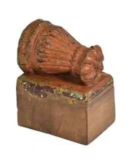 Antik svietnik z mangového dreva, 10x17x14cm