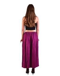 Dlhé thajskej nohavice, ružovej, pružný pás, výšivka