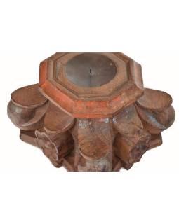 Svietnik z hlavice starého stĺpa, 26x26x19cm
