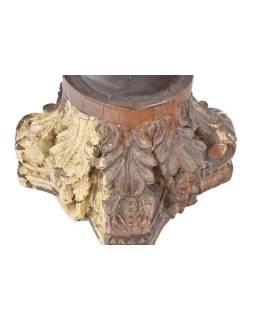 Svietnik z hlavice starého stĺpa, 41x41x29cm