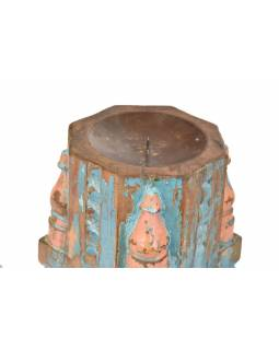 Svietnik vyrobený zo starého stĺpa, 17x17x42cm