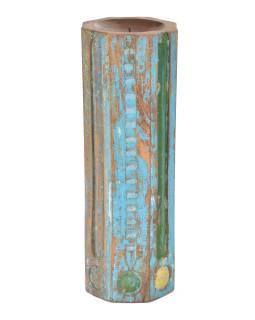 Svietnik vyrobený zo starého stĺpa, 17x17x49cm