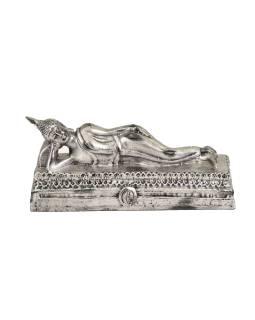 Narodeninový Budha, utorok, strieborná patina, 20cm