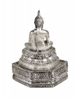 Narodeninový Budha, štvrtok, strieborná patina, 20cm