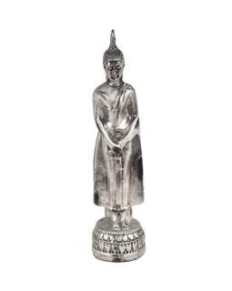 Narodeninový Budha, nedeľa, strieborná patina, 20cm
