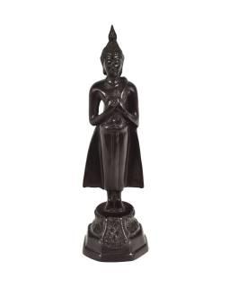 Narodeninový Budha, piatok, hnedý, živice, 25cm