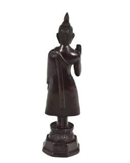 Narodeninový Budha, pondelok, živice, tmavo hnedý, 30cm