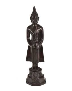 Narodeninový Budha, streda, živice, tmavo hnedý, 30cm