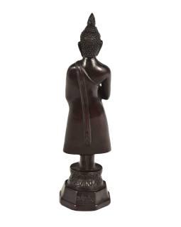 Narodeninový Budha, piatok, živice, tmavo hnedý, 30cm