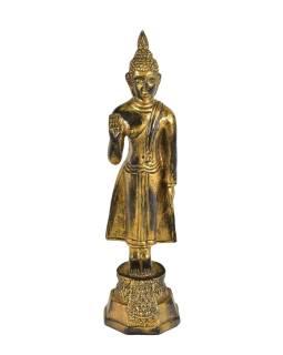 Narodeninový Budha, pondelok, živice, zlatá patina, 30cm
