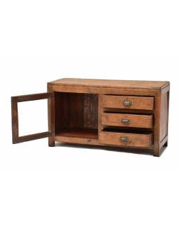 Skrinka z teakového dreva, antik, 90x35x53cm