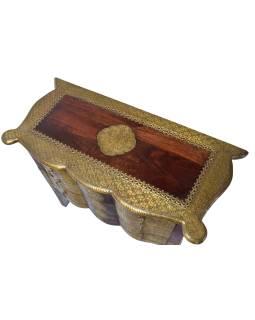Komoda z palisandrového dreva zdobená mosadzným kovaním, 90x40x75cm