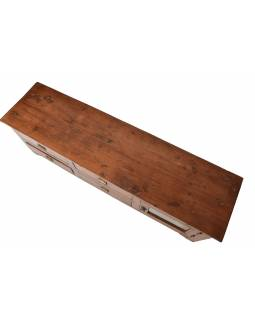 Nízka komoda z teakového dreva, 126x33x40cm