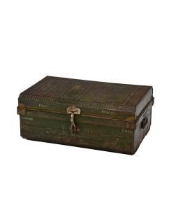 Plechový kufor, staré príručnú batožinu, 59x40x26cm