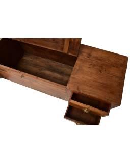 Nízka komoda z teakového dreva, 152x43x46cm