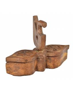 Krabička na tikov, stará pôvodná krabička na práškové farby, 34x10x25cm