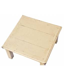 Čajový stolík z teakového dreva, 40x40x21cm