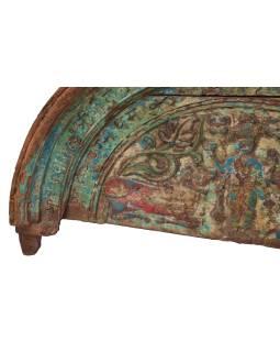 Časť starého portálu z teakového dreva ručne vyrezané, 122x9x68cm