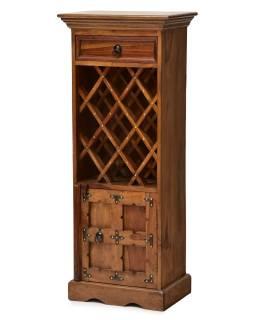 Bar z palisandrového dreva, mosadzné kovania, 45x30x110cm