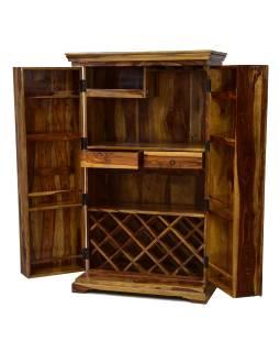 Bar z palisandrového dreva, 90x55x150cm