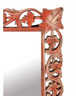 Zrkadlo v ráme z mangového dreva, ručne vyrezávané, 61x3x78cm