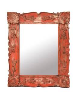 Zrkadlo v ráme z mangového dreva, ručne vyrezávané, 71x3x86cm