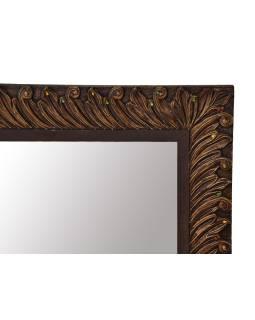 Zrkadlo v ráme z mangového dreva, ručne vyrezávané, 110x3x78cm