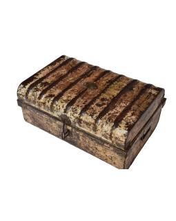 Plechový kufor, staré príručnú batožinu, 61x42x28cm