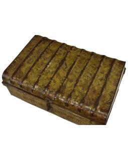 Plechový kufor, staré príručnú batožinu, 65x44x29cm