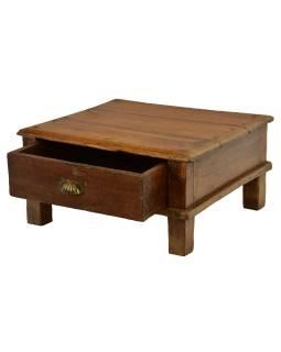 Čajový stolík z teakového dreva, 62x58x30cm