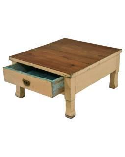 Čajový stolík z teakového dreva, 53x59x31cm