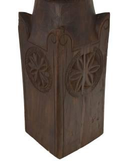 Svietnik vyrobený zo starého stĺpa, 19x19x50cm