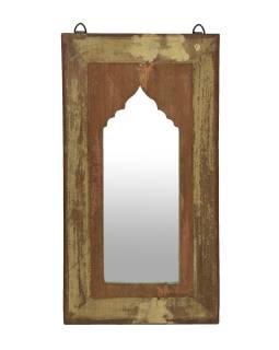 Zrkadlo v ráme z teakového dreva, 27x3x50cm
